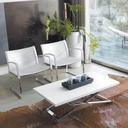 Punto Multifunctional Coffee Dining Table Chrome