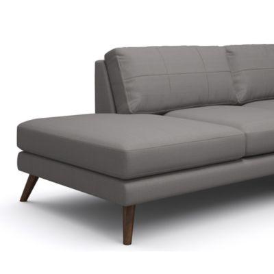 Gentil TrueModern Dane One Arm Sofa With Chaise | YLiving.com