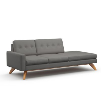TrueModern Luna One Arm Sofa With Chaise | YLiving.com