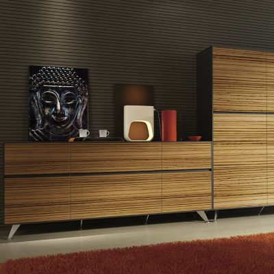 Unique Furniture 400 Series Adjustable Storage Credenza   YLiving.com