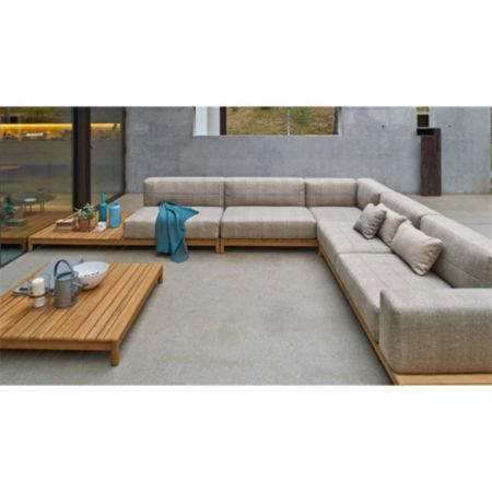 Varaschin Barcode Quilted Sectional Sofa With Left Side Coffee Table