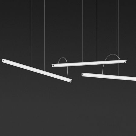 Vibia Halo Lineal Triple LED Pendant Light   YLighting com