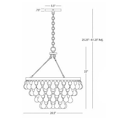 Robert abbey bling chandelier ylighting bling chandelier diagram aloadofball Image collections