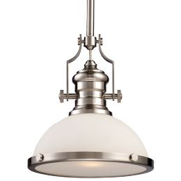 Chadwick Pendant With Gl Shade By Elk Lighting At Lumens