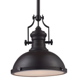 Chadwick Pendant With Metal Shade By Elk Lighting At Lumens