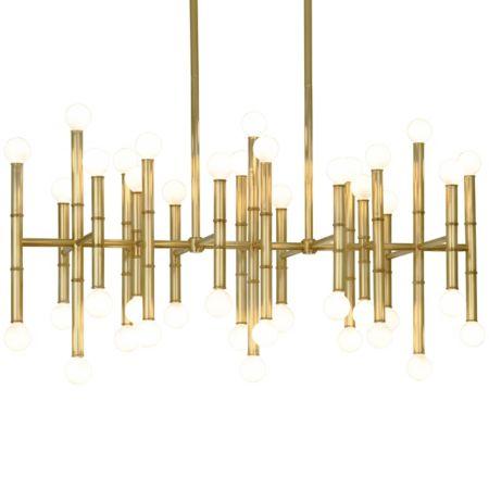 Robert abbey meurice rectangular chandelier ylighting aloadofball Image collections