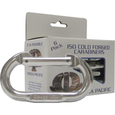 Omega Pacific Standard Oval Bright Carabiners - 6 Pack