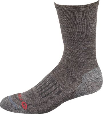 Merrell Men's Courant Solid Hiking Lightweight Crew Sock
