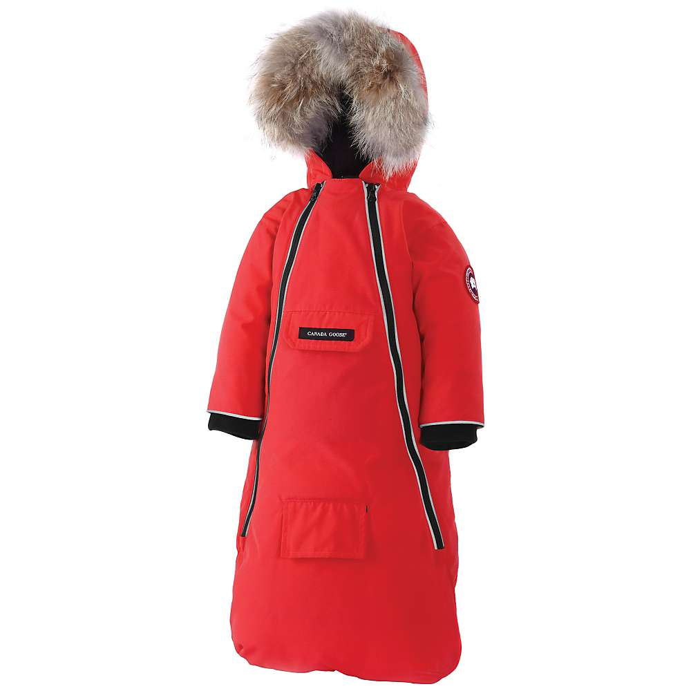 Canada Goose Baby Bunny Bunting. Red. 0:00