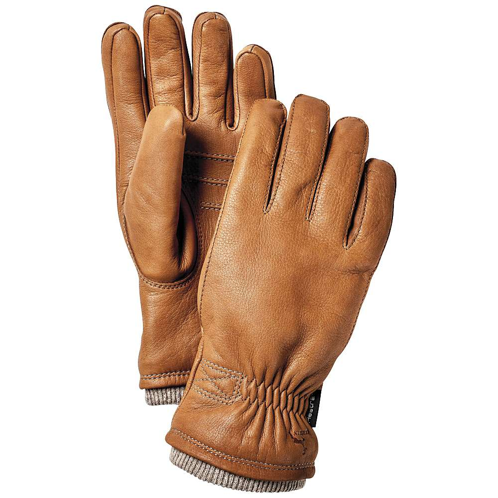 Hestra mens gloves - Hestra Men S Deerskin Swisswool Rib Cuff Glove Cork 0 00 0 00
