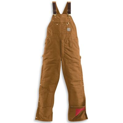 Carhartt Men's Quilt Lined Zip To Thigh Bib Overall