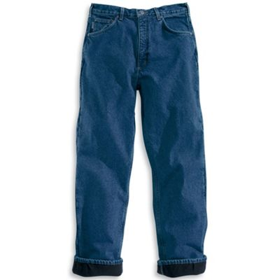 Carhartt Men's Relaxed Fit Straight Leg Fleece Lined Jean