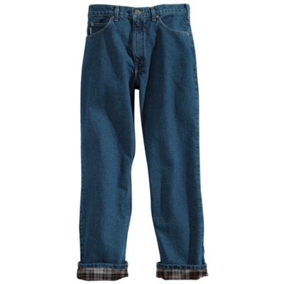 Carhartt Men's Relaxed Fit Straight Leg Flannel Lined Jean