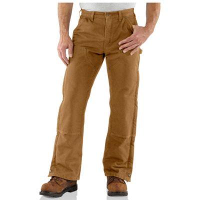 Carhartt Mens Sandstone Waist Overall Quilt Lined Pant Moosejaw
