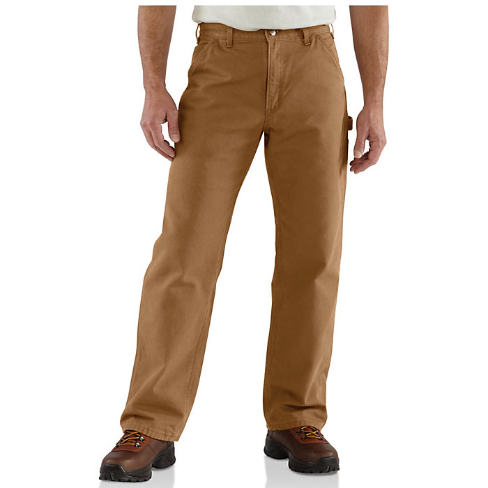 99170dfb8d8b Carhartt Men s Washed Duck Work Dungaree Flannel Lined Pant - Moosejaw
