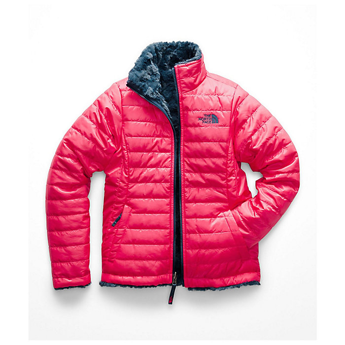 57a14335a73 The North Face Girls  Reversible Mossbud Swirl Jacket - Moosejaw