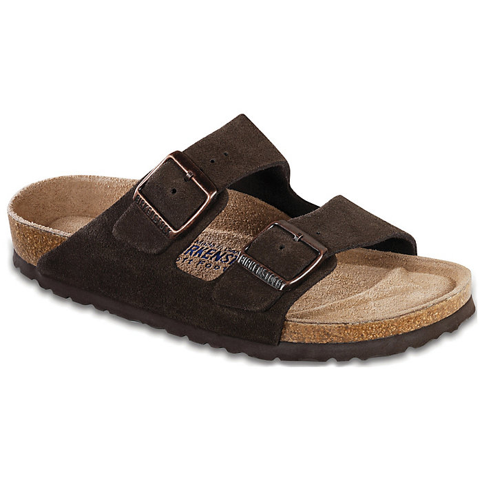 Birkenstock — Arizona Soft Footbed Narrow Mink Suede at Shoe La La
