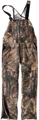 Carhartt Men's Quilt Lined Camo Overall Bib