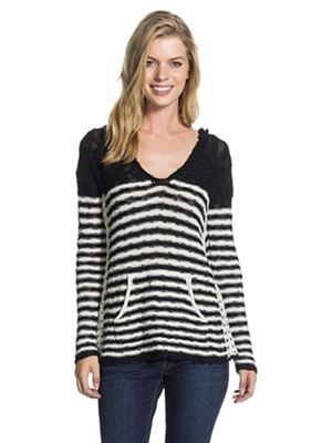Roxy Women's White Caps Stripe Sweater