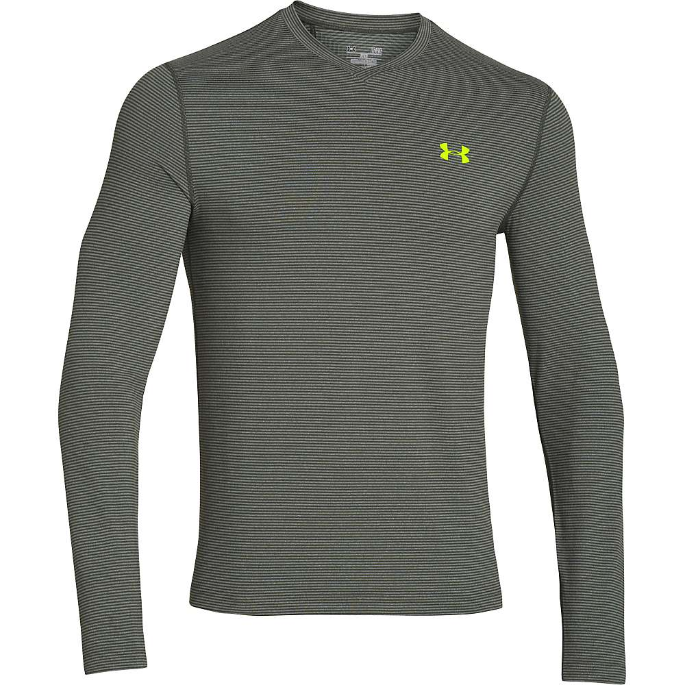 Under armour men 39 s coldgear infrared long sleeve tee for Yellow under armour long sleeve shirt