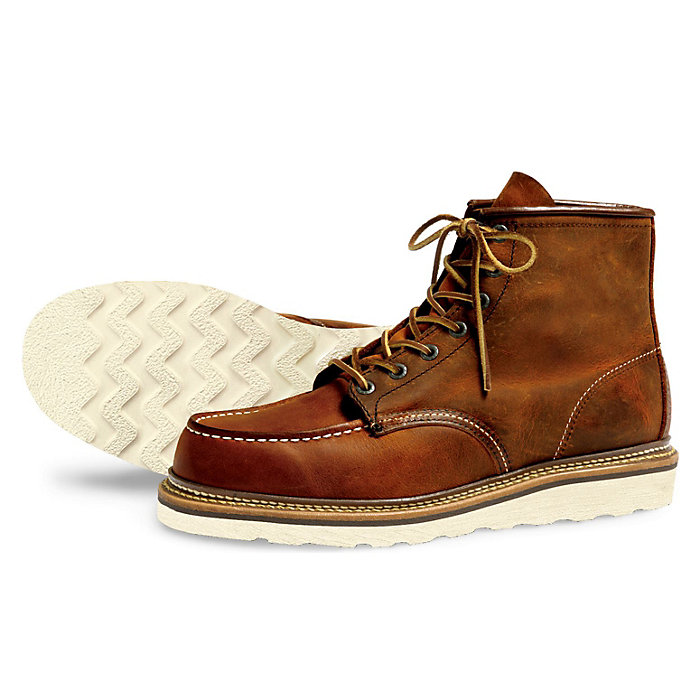 Red Wing 6-Inch Classic Moc Boot Copper Rough Leather 10/% OFF