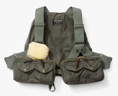 Filson Men's Cover Cloth Foul Weather Fly Fishing Vest
