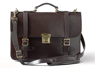 Filson Leather Field Satchel