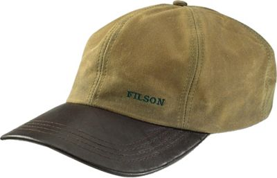 Filson Tin Cloth and Leather Cap