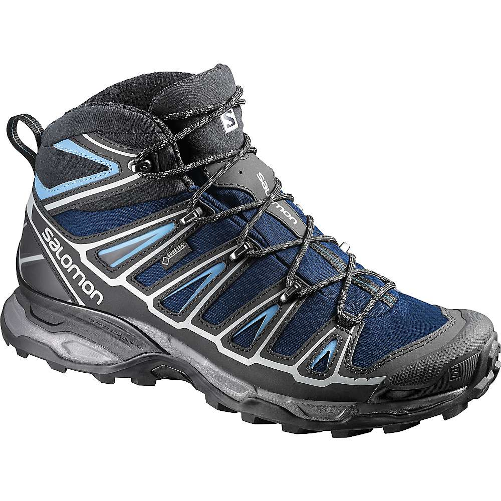 Salomon Men's X Ultra Mid 2 GTX Boot. Gentiane / Black / Methyl Blue. 0:00