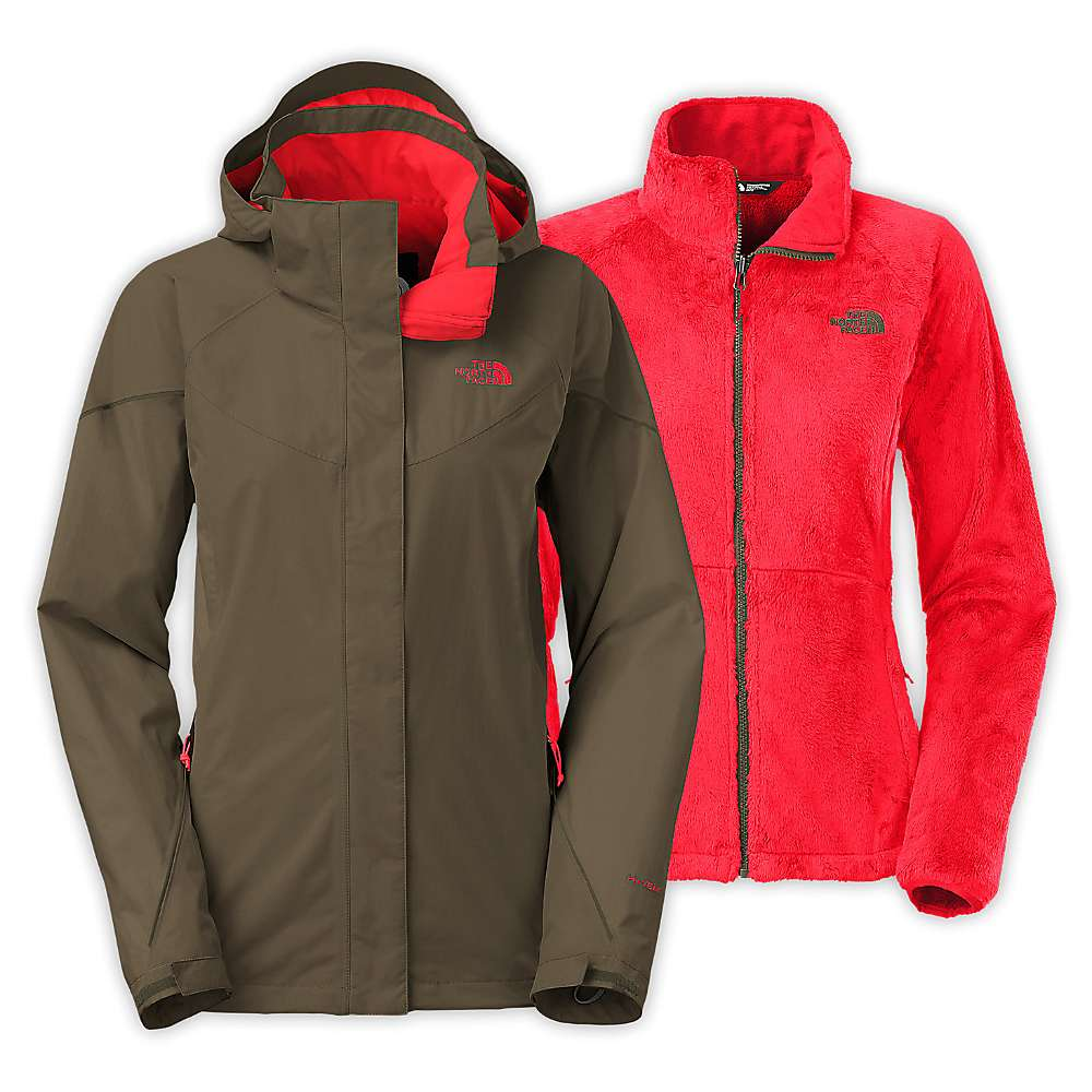 North face women's boundary triclimate hooded jacket