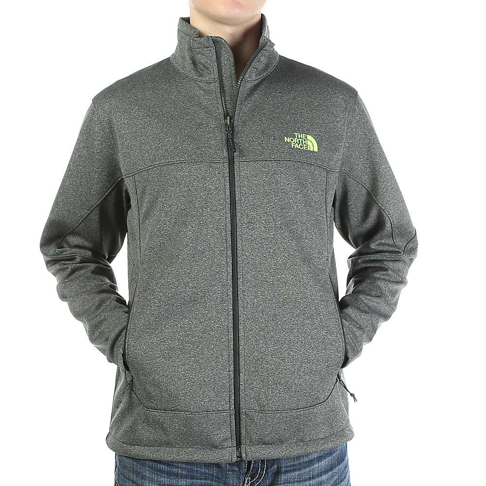 North face green hooded jacket