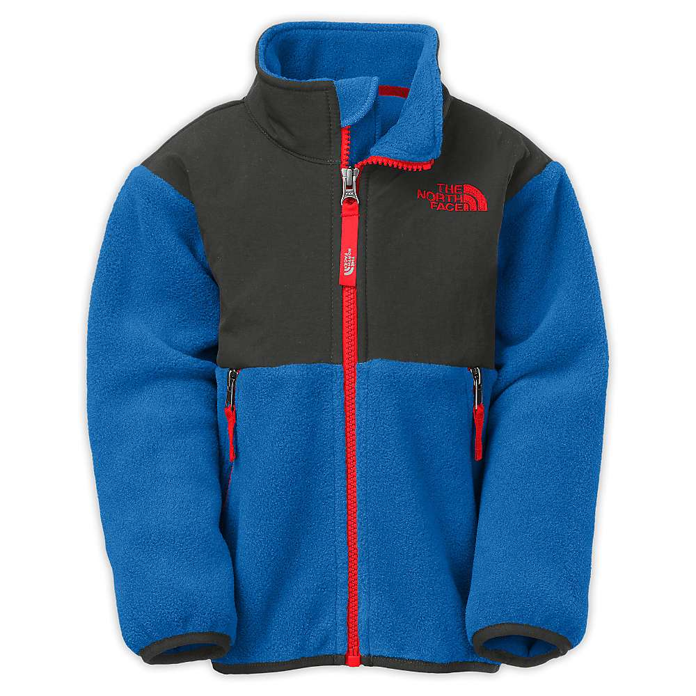 The North Face Toddler Boys' Denali Jacket. Recycled Monster Blue /  Graphite Grey. 0:00 / 0:00