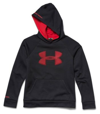 Under Armour Boys' Armour Fleece Storm Big Logo Hoody