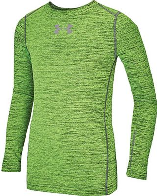 Under Armour Boys' ColdGear Armour Twist Crew Top