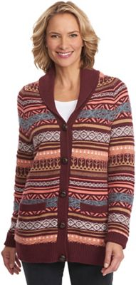 Woolrich Women's Blazing Star Long Fair Isle Cardigan