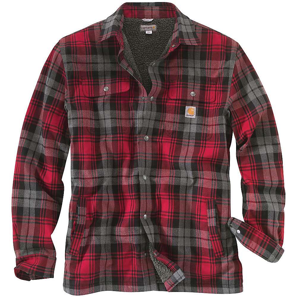 Carhartt men 39 s hubbard sherpa lined shirt jac moosejaw for Sherpa lined flannel shirt