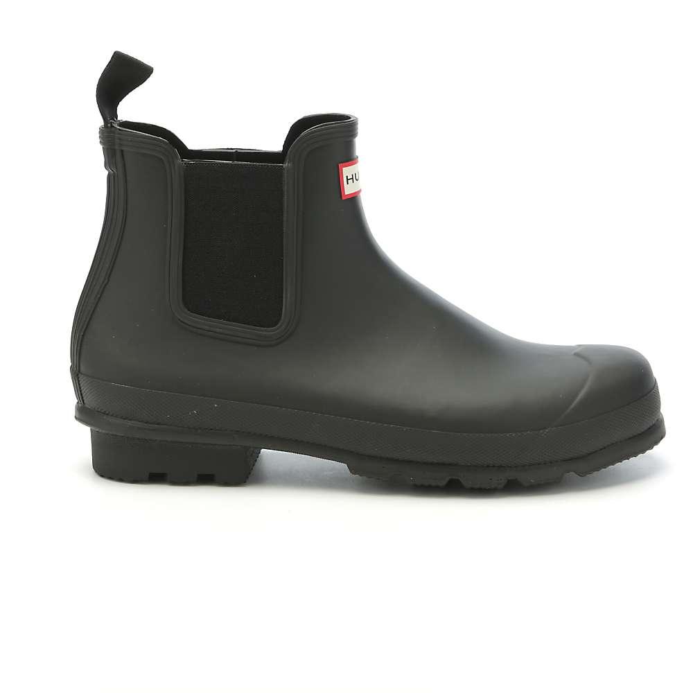 Hunter Men's Original Dark Sole One Tab Chelsea Boot. Black · Black · Black  · Black · Black · Midnight. 0:00