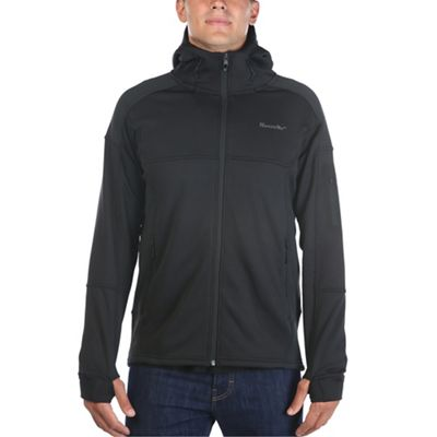 Moosejaw Mens Woodbridge Stretch Fleece Hoody (Black)
