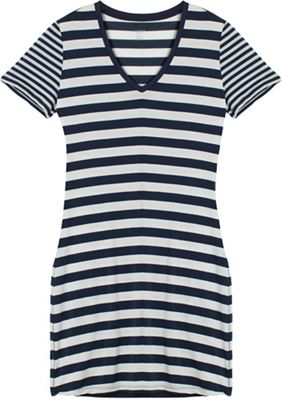 Icebreaker Women's Tech Lite SS V Stripe Dress