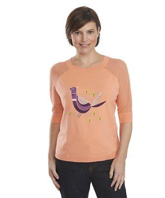 Woolrich Women's Motif 3/4 Sleeve Sweater