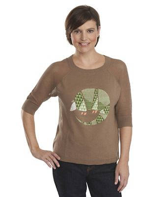 Woolrich Women's Motif 3/4 Sleeve Sweater