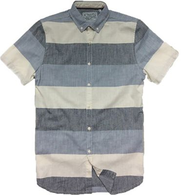 Jeremiah Men's Slub Woven Stripe S/S Shirt