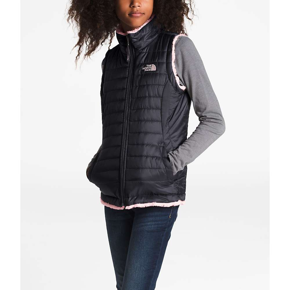 eb4fdce76de7 The North Face Girls  Reversible Mossbud Swirl Vest - Moosejaw