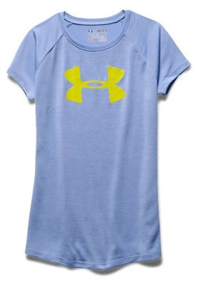 Under Armour Girls' Novelty Big Logo Tech SS T