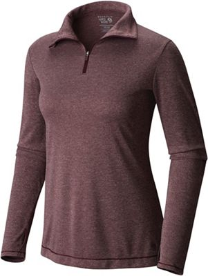 Mountain Hardwear Women's Wicked Printed LS Zip T