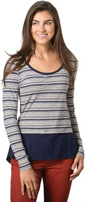 Toad & Co Women's Stripeout Solid Hem Tee