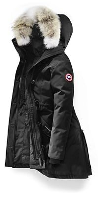 Canada Goose Women's Rossclair Parka. BLACK; BLUE ...