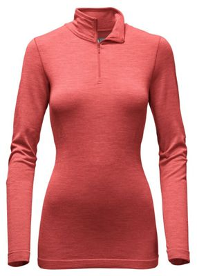 The North Face Women's LS Go Seamless Wool 1/4 Zip Top