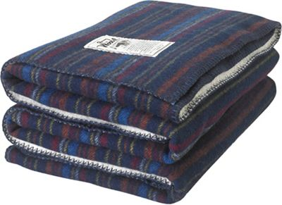 Woolrich Sherpa Rough Rider Stripe Blanket
