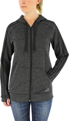 Adidas Women's Team Issue Fleece 3 Stripe Full Zip Hoody